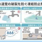 水道管の冬支度!凍結防止と対処法について
